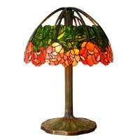Bieye L10020 20-inches Water-lily Tiffany Style Stained ...