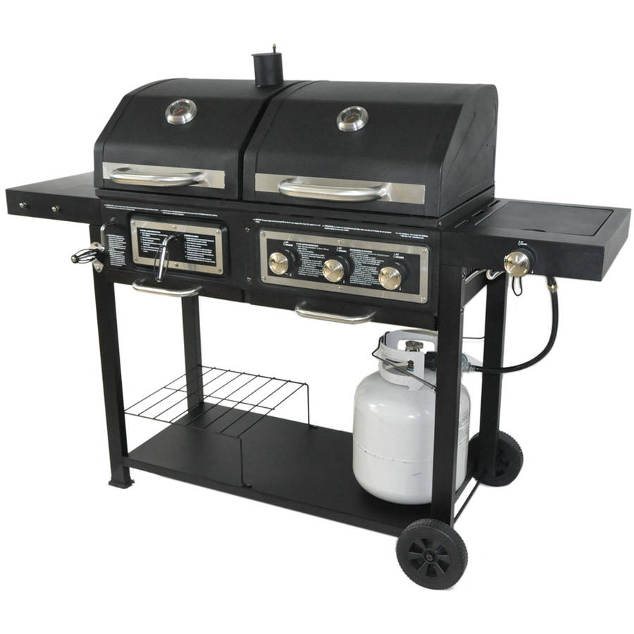walmart chairs camping green bungee chair dual fuel combination charcoal/gas grill - walmart.com