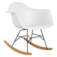 Hodedah Imports Bucket Rocking Chair in White - Walmart.com