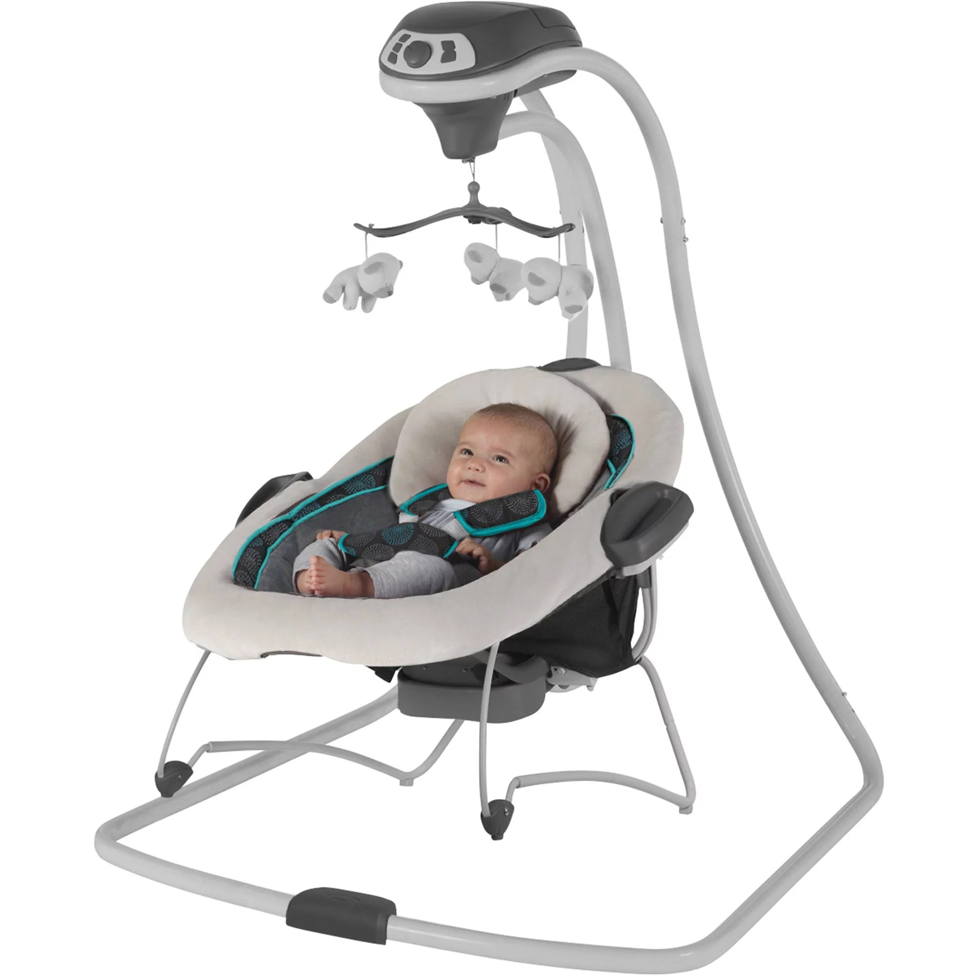 baby swing vibrating chair combo high back velvet graco duetconnect and bouncer bristol walmart com