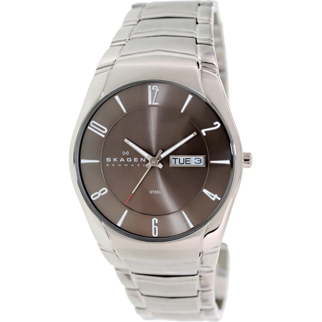 Skagen Men's Black Label 531XLSXM1 Silver Stainless-Steel Quartz Fashion Watch