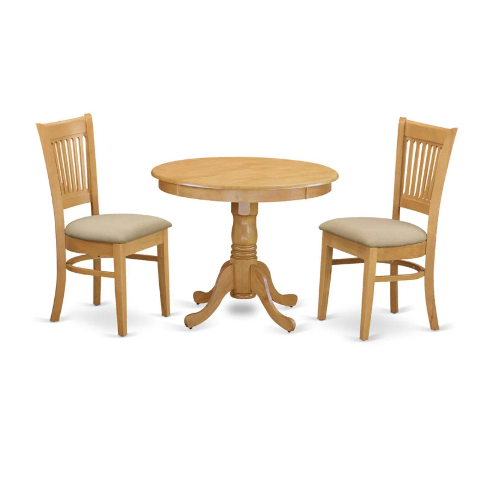 3 piece kitchen table black cabinet handles east west furniture hepplewhite modern