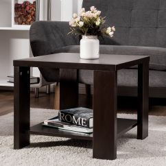 Square Living Room Tables Rooms With Brown Sectionals End Table Coffee Tea Sofa Side Furniture W Storage Shelf