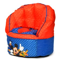 Mickey Mouse Clubhouse Bean Bag Chair Pink Velvet Throne Furniture Tktb Disney Kids