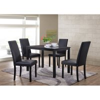 Shaker Dining Chairs, Set of 4, Black - Walmart.com