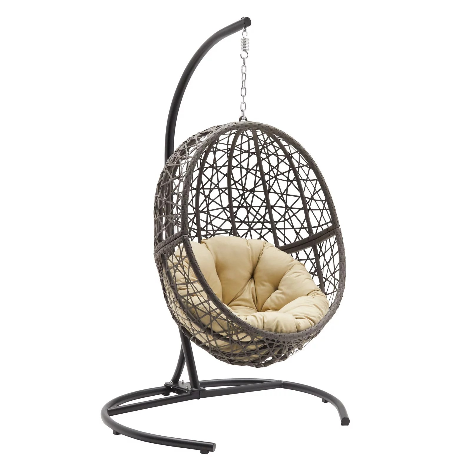 Wicker Egg Chairs For Sale Belham Living Resin Wicker Hanging Egg Chair With Cushion And