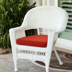 White Resin Wicker Chairs Back Support For Office Chair South Africa 36 Outdoor Patio Garden With Red Cushion