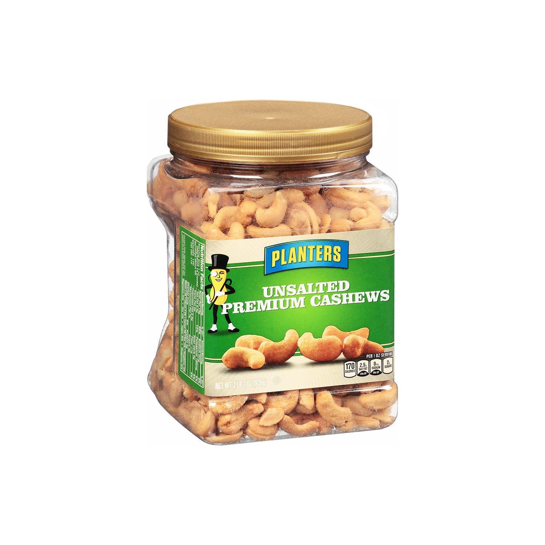 Planters Premium Cashews Unsalted 33 Oz Walmartcom
