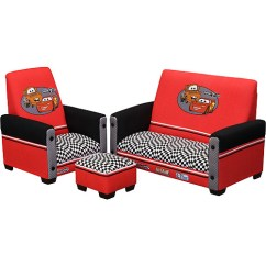 Cars Sofa Chair Yellow Leather And Loveseat Disney Pixar Toddler Ottoman Set Walmart Com