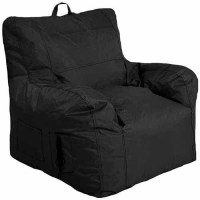 Small Arm Chair Bean Bag, Black