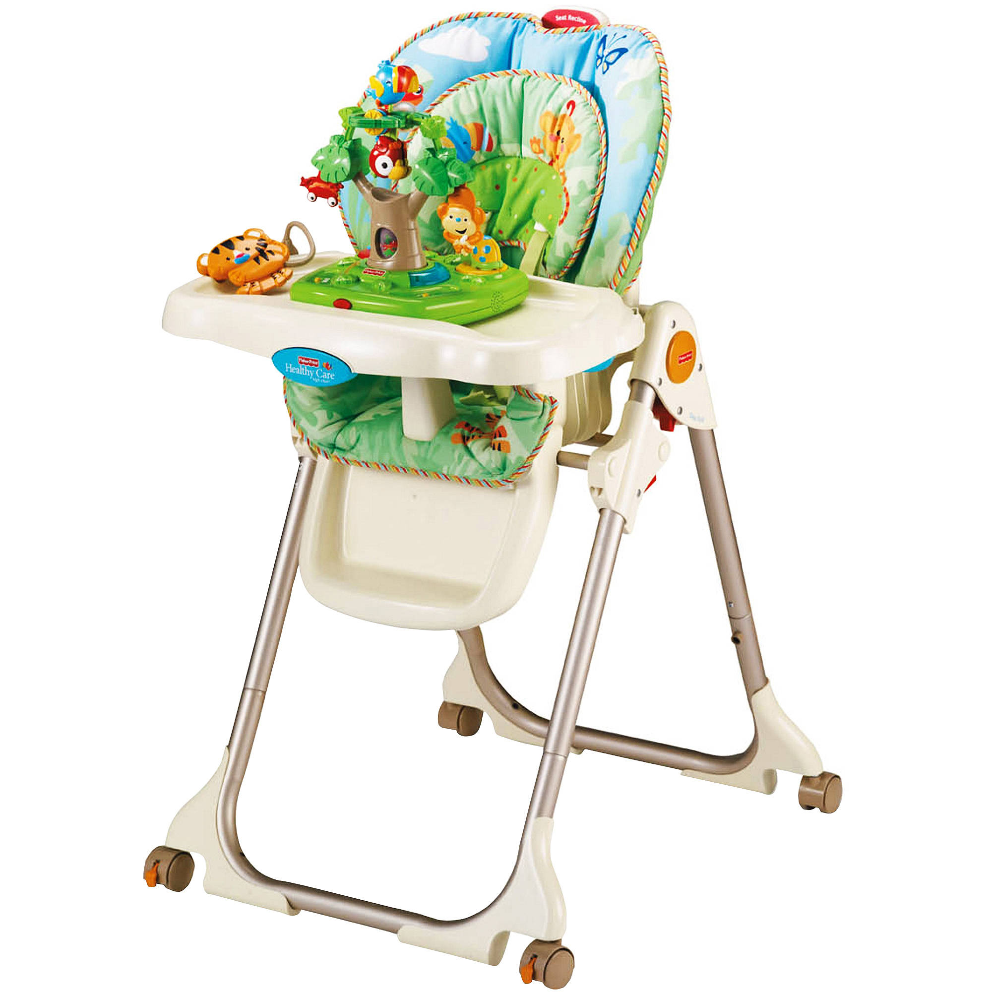 rainforest high chair double lounge outdoor fisher price healthy care h walmart com
