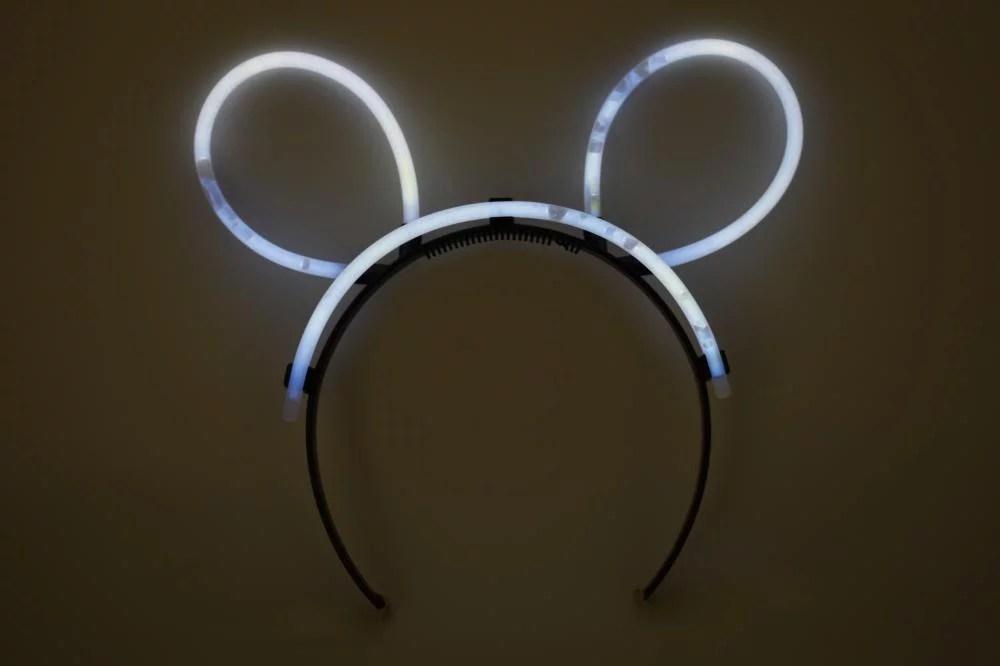 DirectGlow 5 Count White Glow Stick Bunny Ears Fun Neon ...