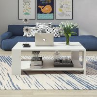 Zimtown Modern Rectangle Sofa Coffee Table End Table ...