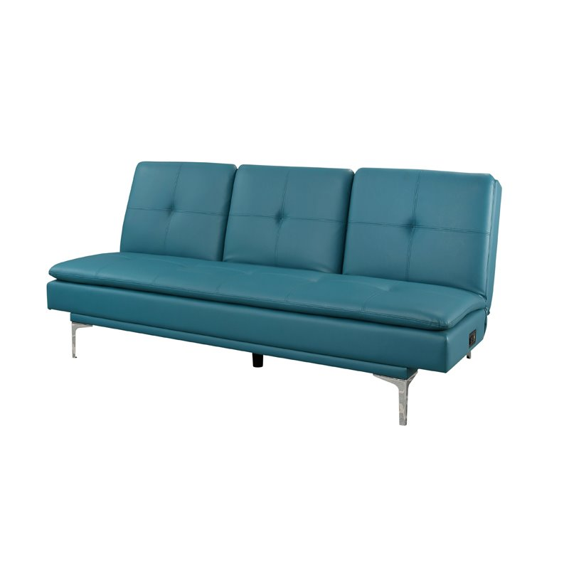 all leather sofa bed sofas com paletes abbyson esme turquoise bonded with console qty