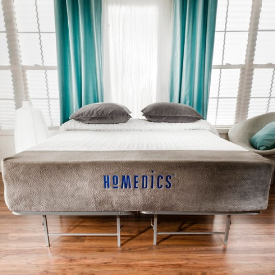 Homedics Renew 12 Gel Memory Foam Mattress And Bed Frame Set Multiple Sizes