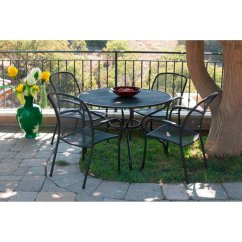 Metal Stacking Chairs Outdoor Steel Chair Price In Nepal Royal Garden Monata Mesh Set Of 4