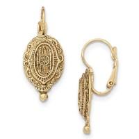 Gold-tone Filigree Leverback Earrings - Walmart.com