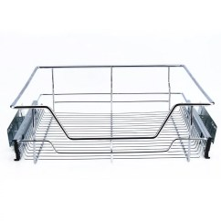 Kitchen Wire Storage Glass Top Table Sets Yosoo Sliding Cabinet Organizer Pull Out Chrome Basket Drawer Cabinets Walmart Com