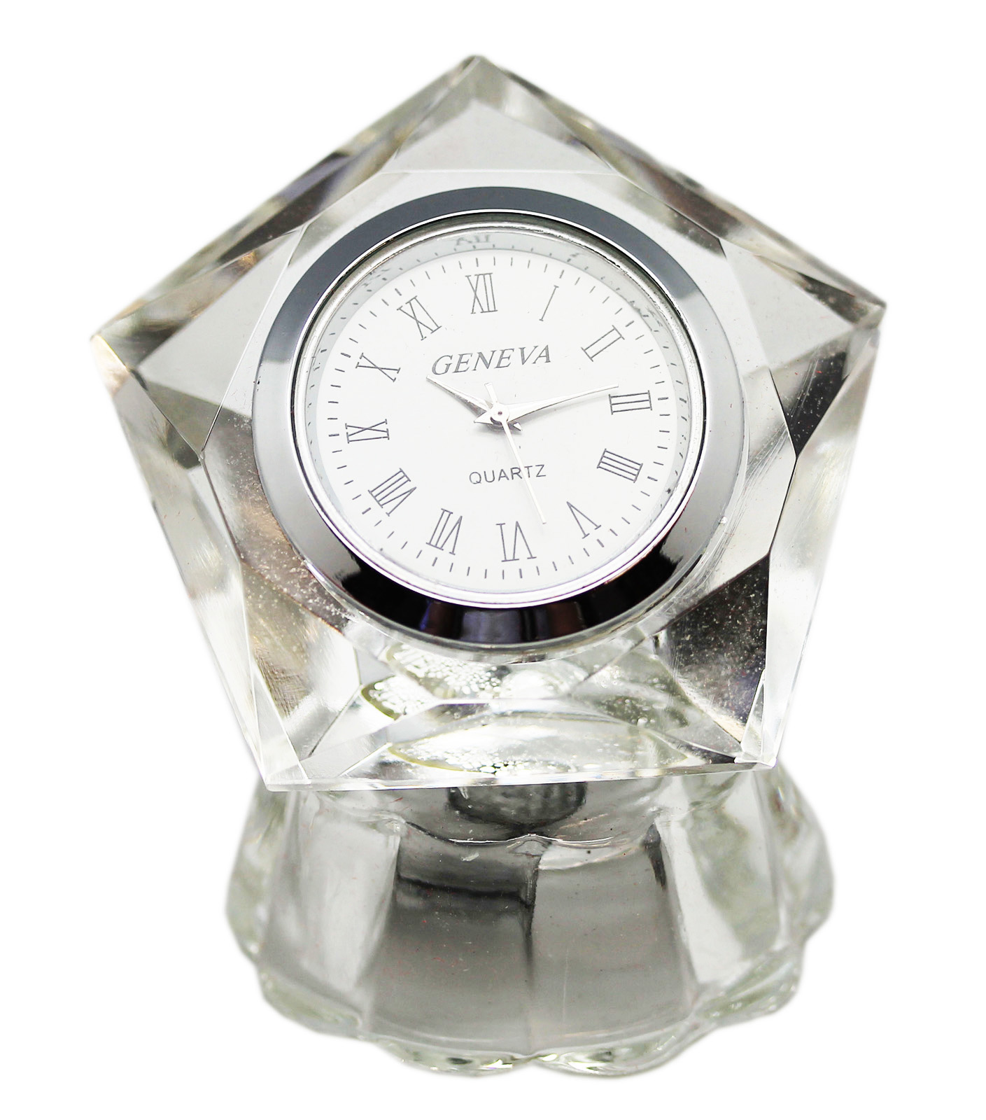 Pentagon Shaped Small Crystal Desk Clock  Walmartcom