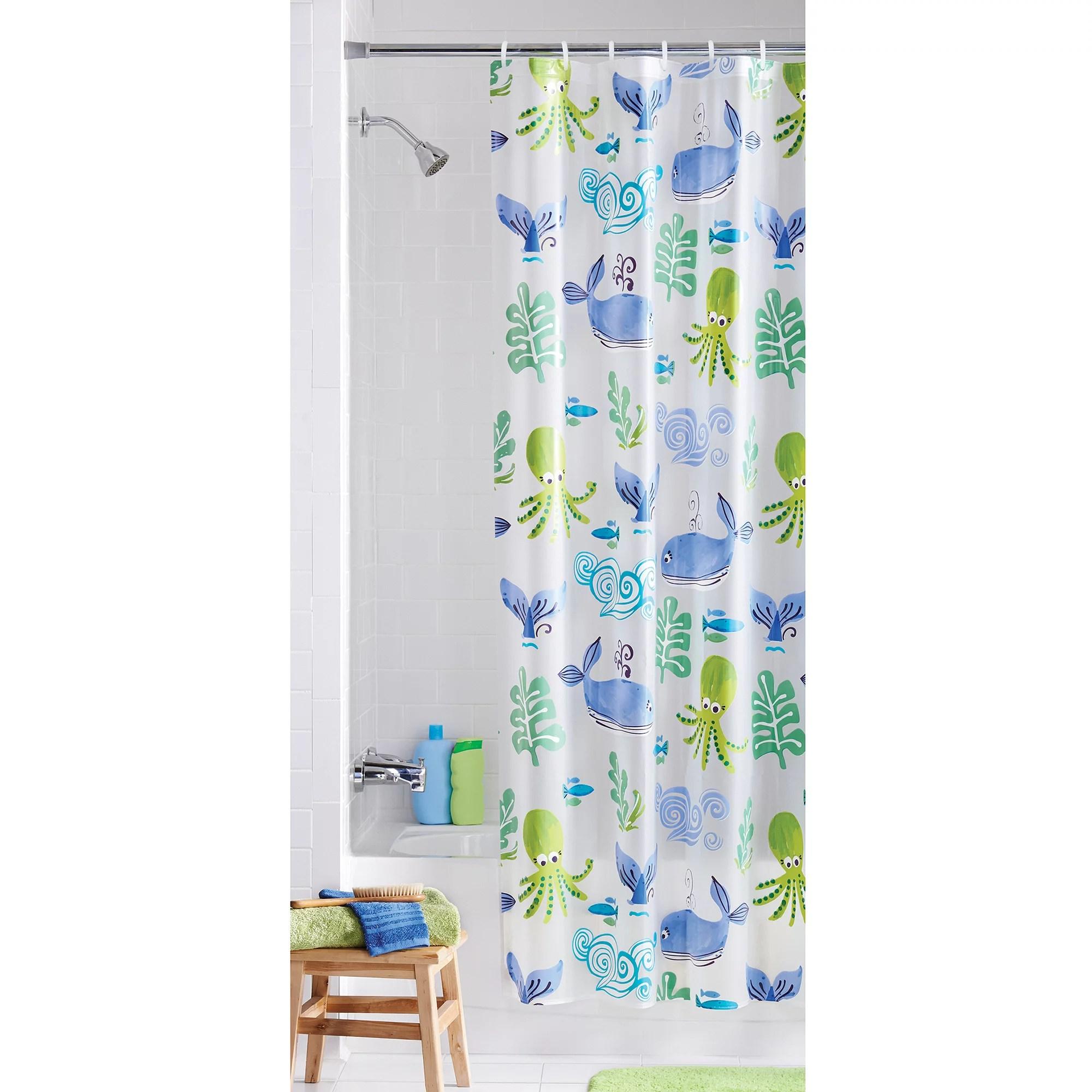 Mainstays Neptune PEVA Vinyl Shower Curtain  Walmartcom