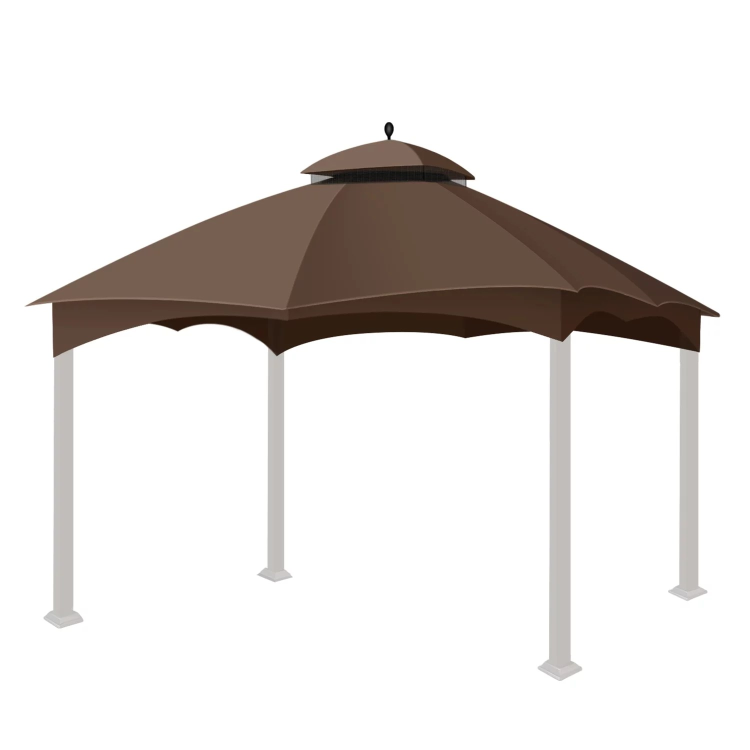 gazebo replacement canopy top tent for lowe s home depot allen roth 10 x 12 feet uv upf 50 dual tier plain edge water resistant cover shade outdoor