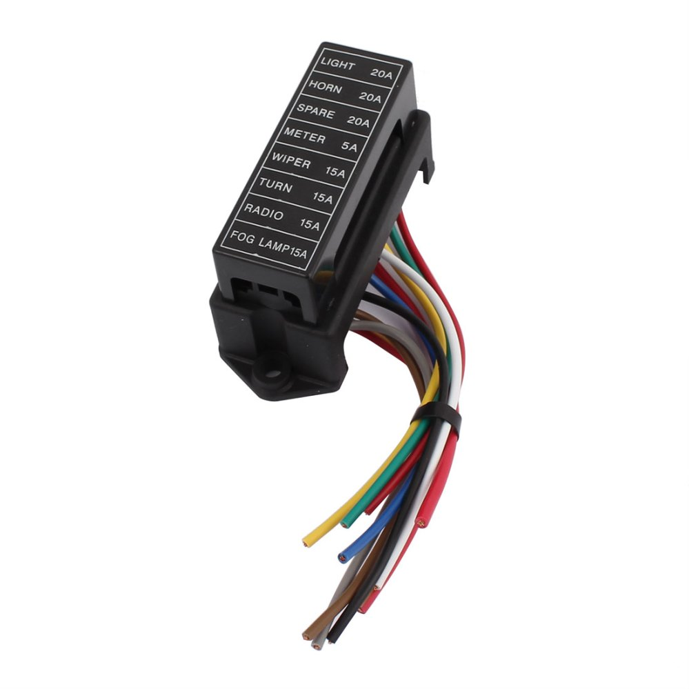 medium resolution of hs 008 jiazhan car 8 way fuse box 8 road with wire modification basic block auto