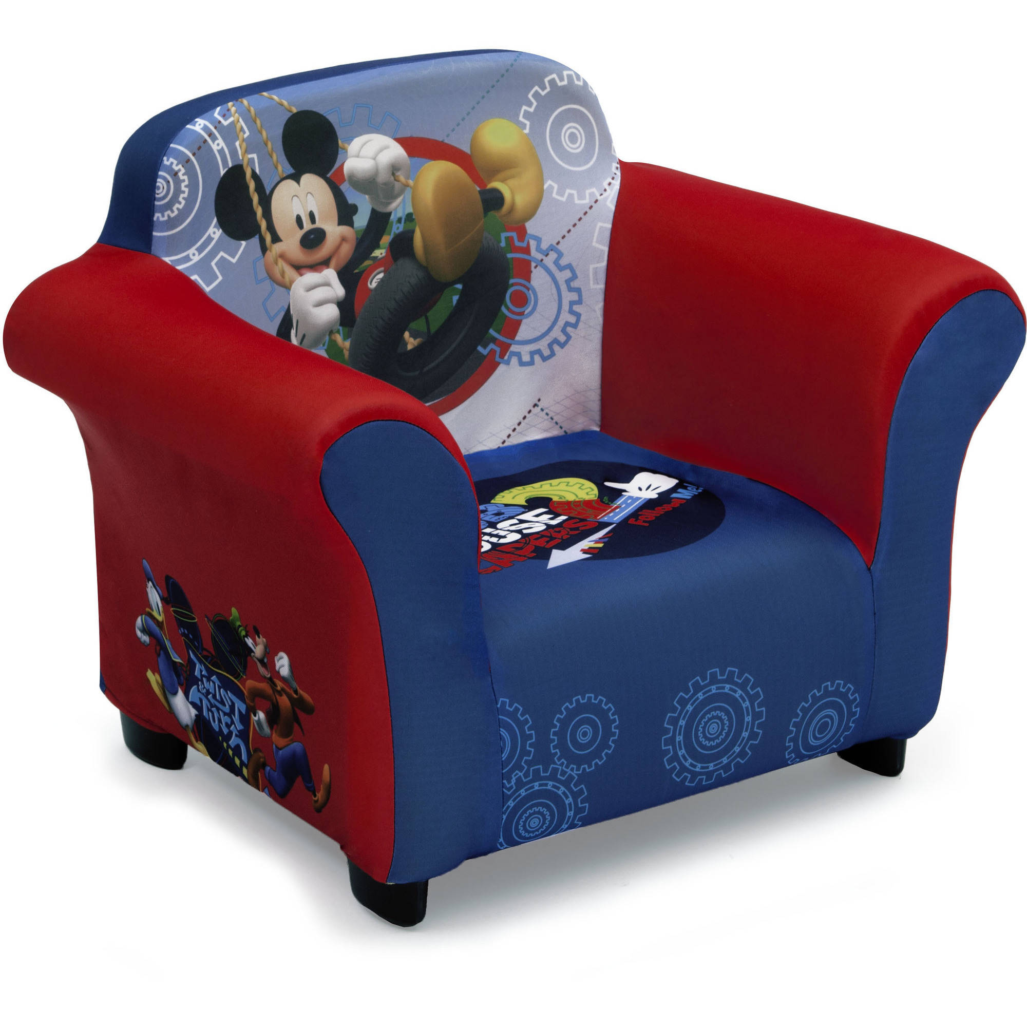 Mickey Mouse Chairs For Toddlers Disney Mickey Mouse Kids Upholstered Chair With Sculpted Plastic Frame By Delta Children