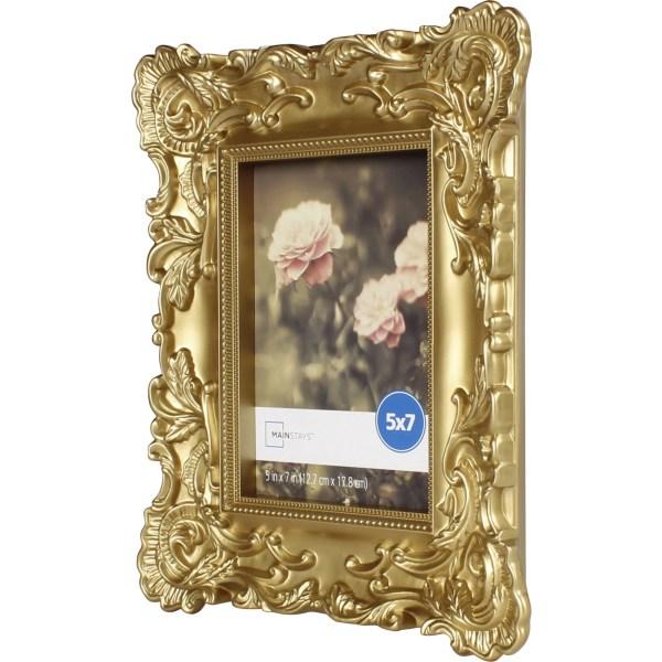 Mainstays 5x7 Baroque Frame Gold Family