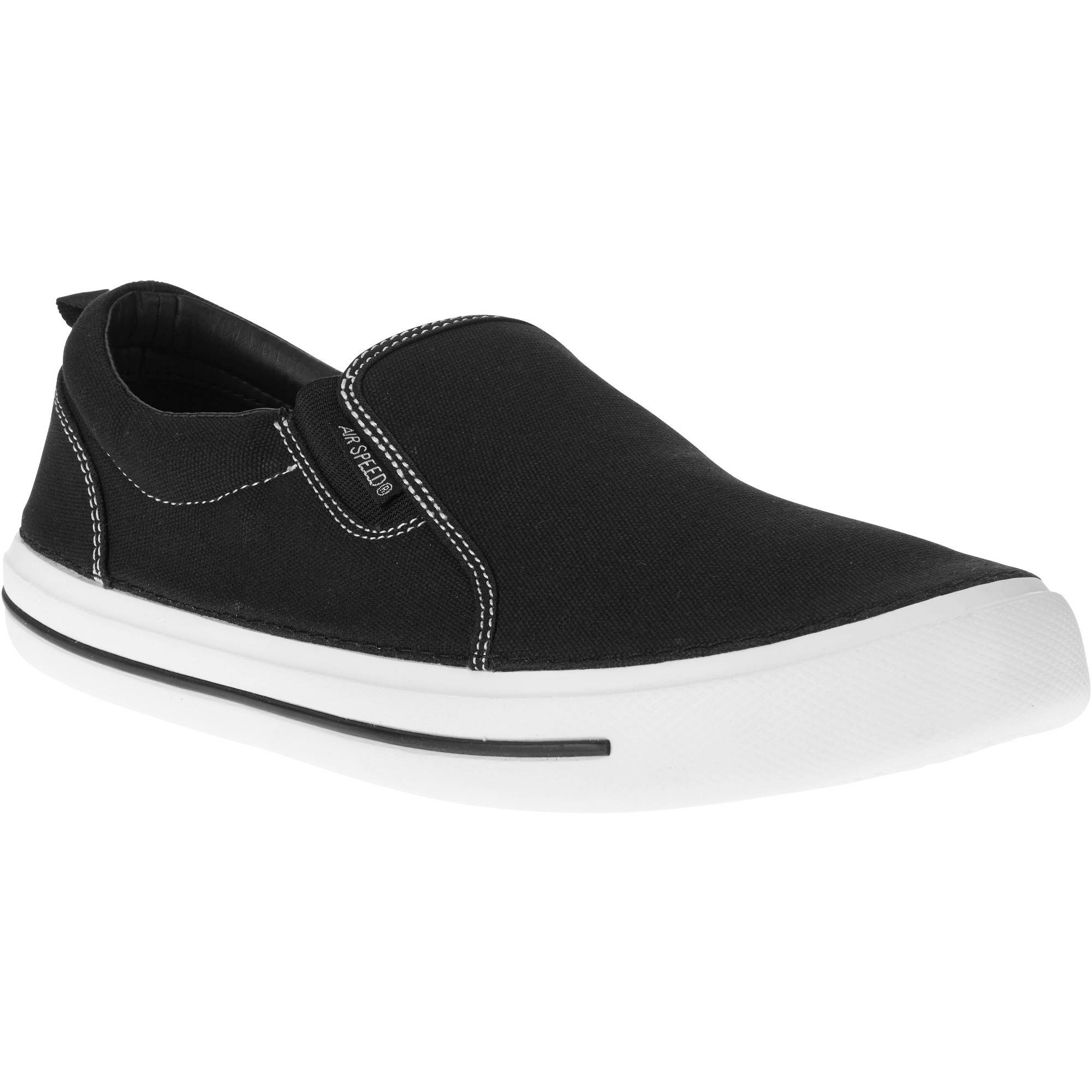 White Canvas Slip On Shoes Walmart