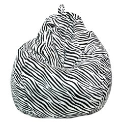 Zebra Print Bean Bag Chair For Stool Gold Medal Medium 112 Microsuede Teardrop Walmart Com