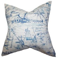 The Pillow Collection Hobson Coastal Cotton Throw Pillow ...