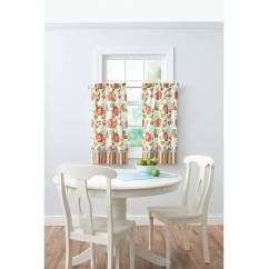 Kitchen Tier Curtains Copper Hardware Better Homes And Gardens Jacobean Stripe