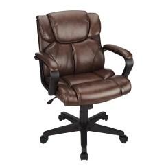 Brenton Studio Task Chair Round Kitchen Table And Chairs Argos Briessa Mid Back Vinyl Brown Black Walmart Com