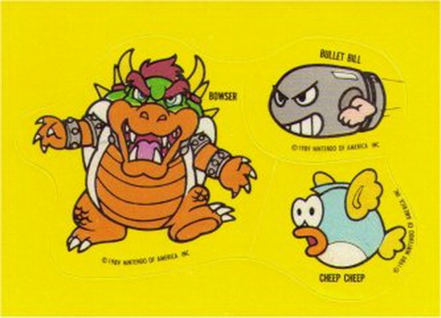 Nintendo Super Mario Bros. Enemies Topps Sticker (B)