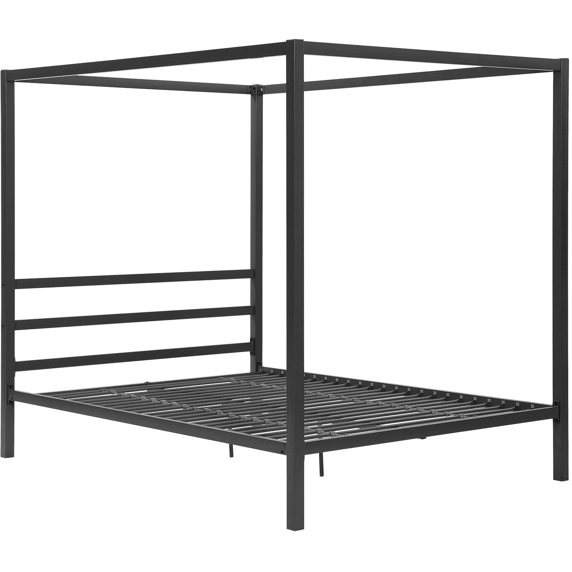 Dhp Modern Canopy Gunmetal Gray Metal Bed Queen Walmart Com Walmart Com