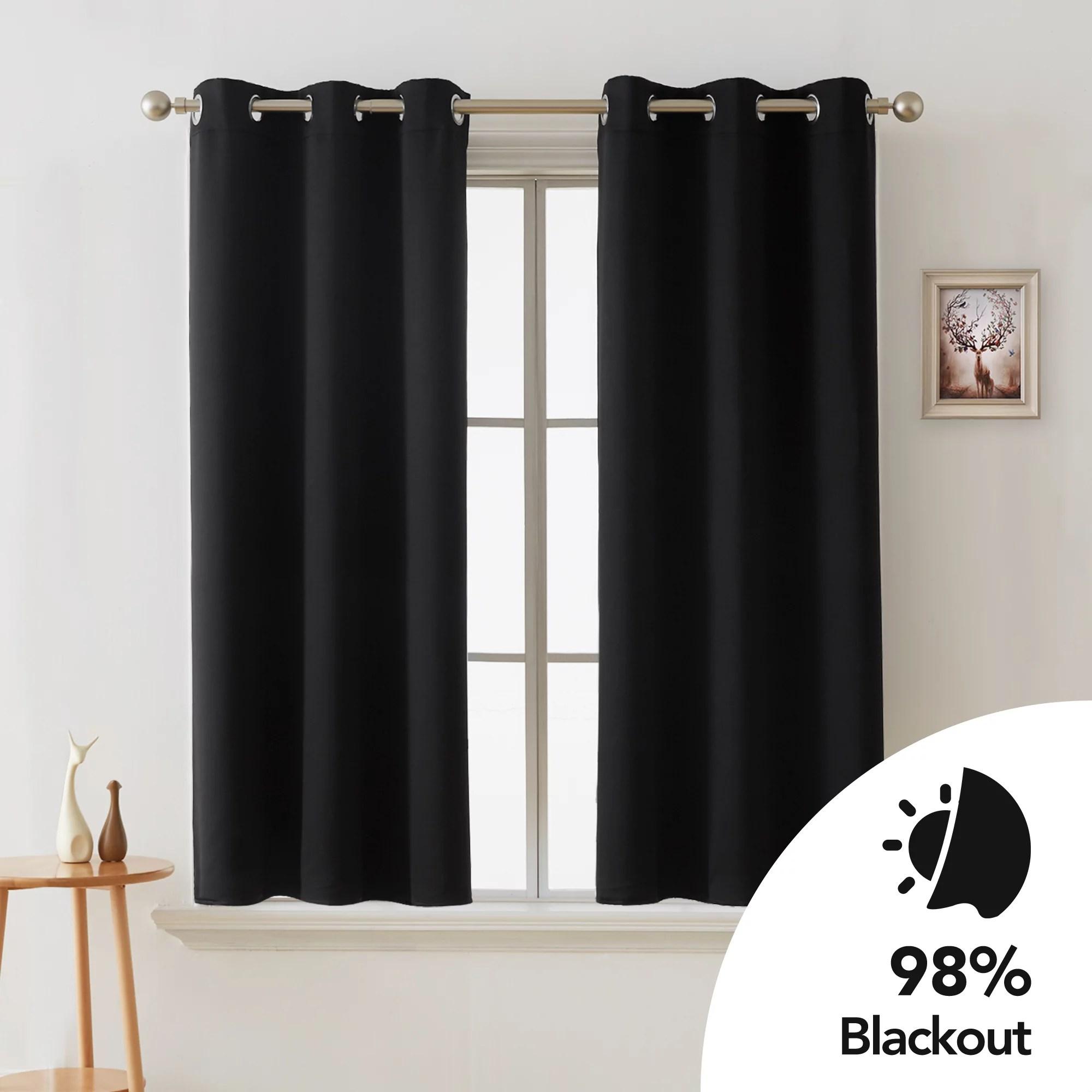 eclipse dayton solid color blackout grommet single curtain panel gray 42 x 54