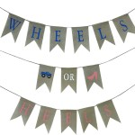 Jennygems Gender Reveal Baby Shower Burlap Banner Party Decoration Pregnancy Announcement Wheels Or Heels Walmart Com Walmart Com