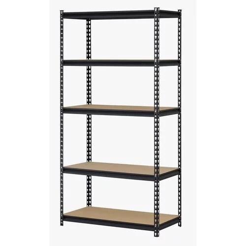 muscle rack black 36 w x 18 d x 72 h five shelf steel shelving unit 150 pound capacity