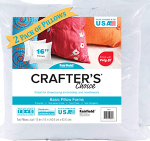 fairfield crafter s choice 16 x16 pillow insert pack of 2