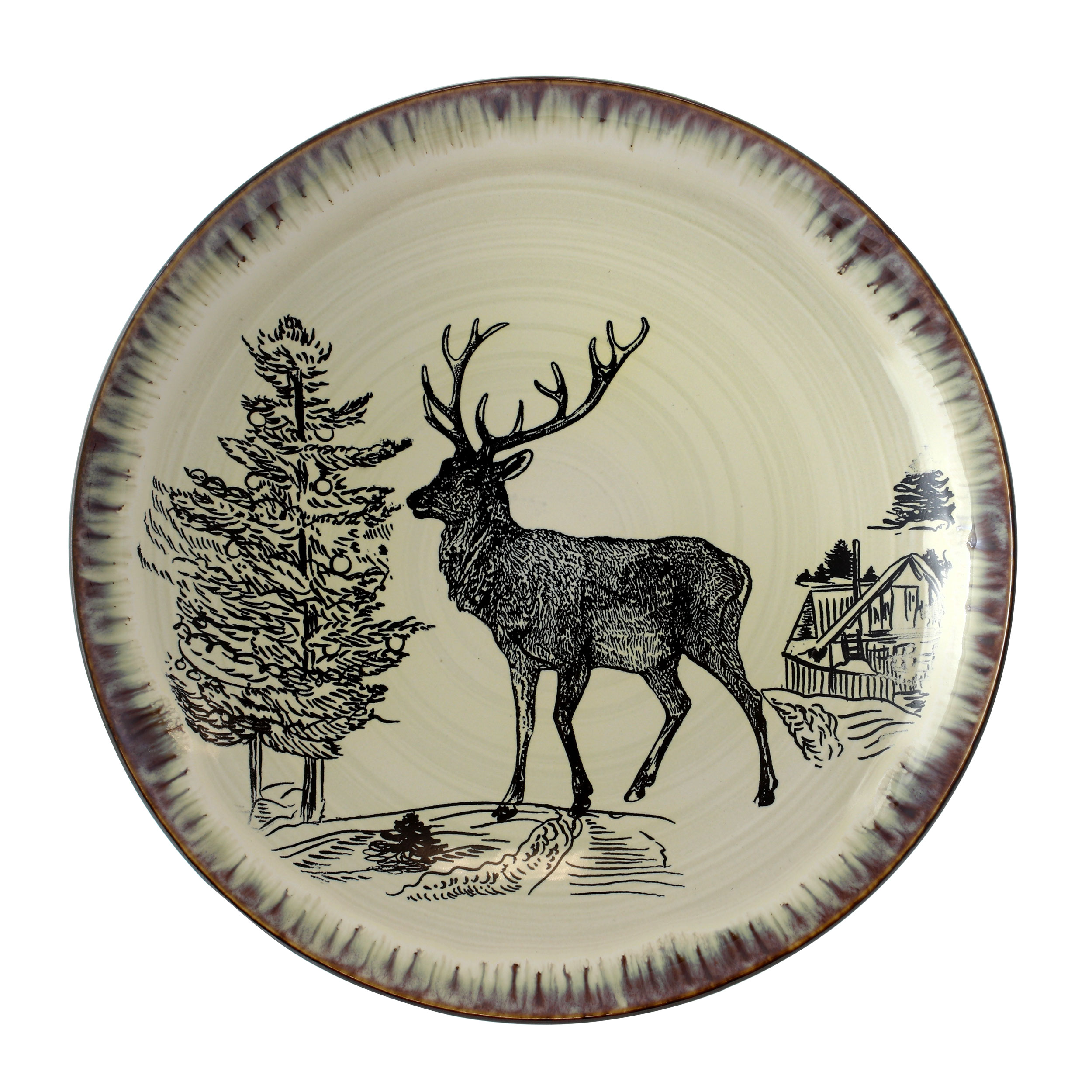 tabletop taupe with elk decal elama