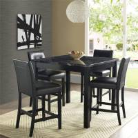 5 Piece Faux Marble Leather Counter Height Dining Set ...