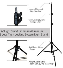 single octagon softbox with adjustable light stand and 85w cfl bulb for photography and video lighting by loadstone studio wmls0235 walmart com [ 1000 x 1000 Pixel ]