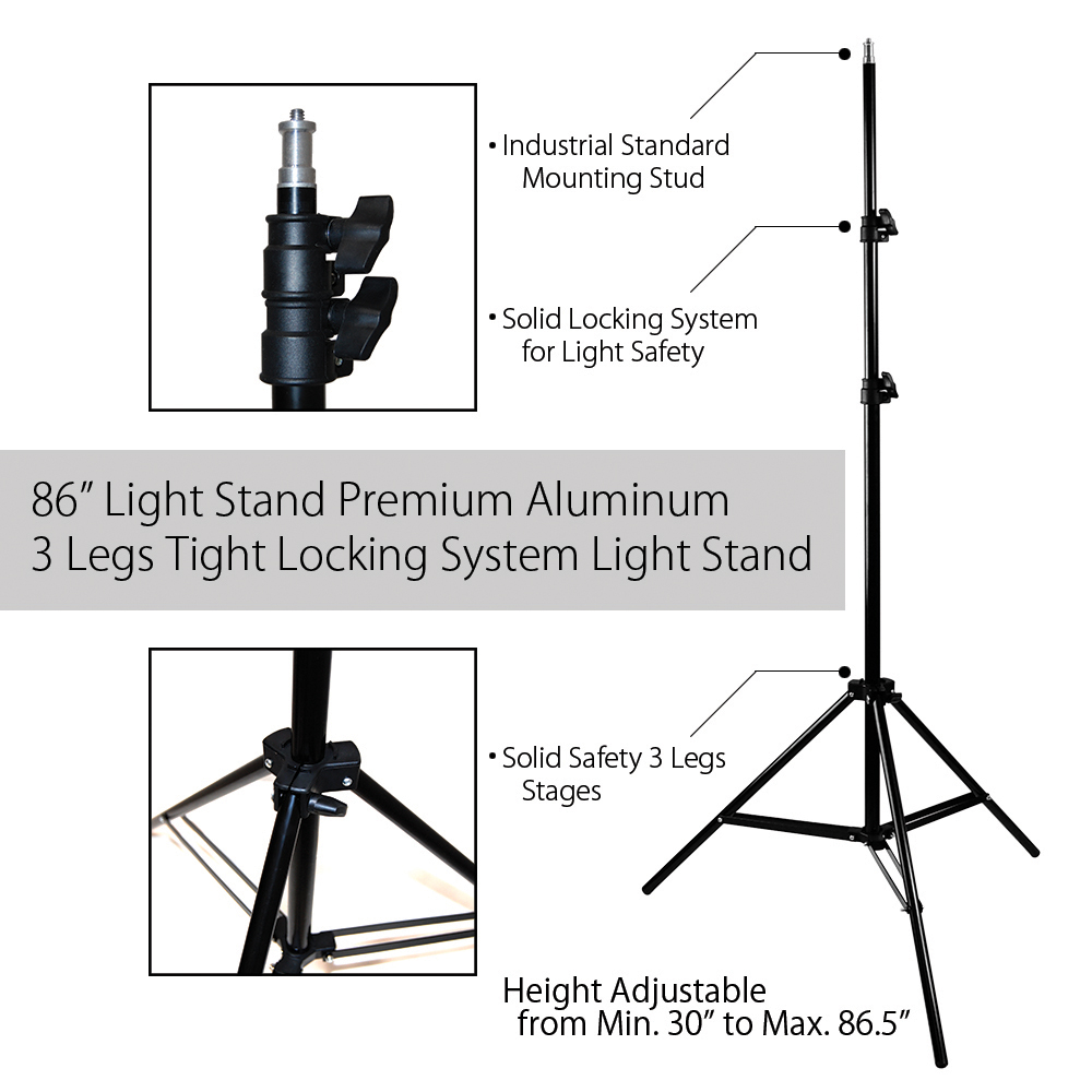 hight resolution of single octagon softbox with adjustable light stand and 85w cfl bulb for photography and video lighting by loadstone studio wmls0235 walmart com