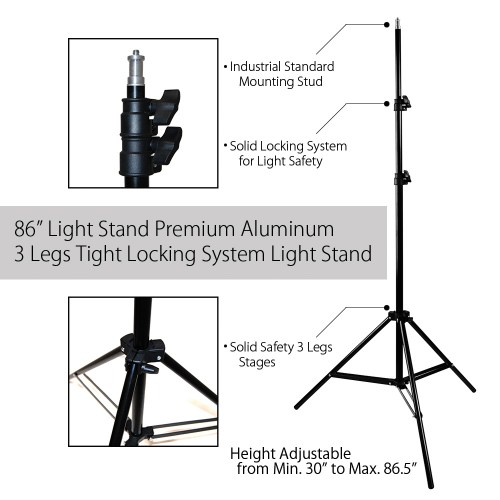 small resolution of single octagon softbox with adjustable light stand and 85w cfl bulb for photography and video lighting by loadstone studio wmls0235 walmart com