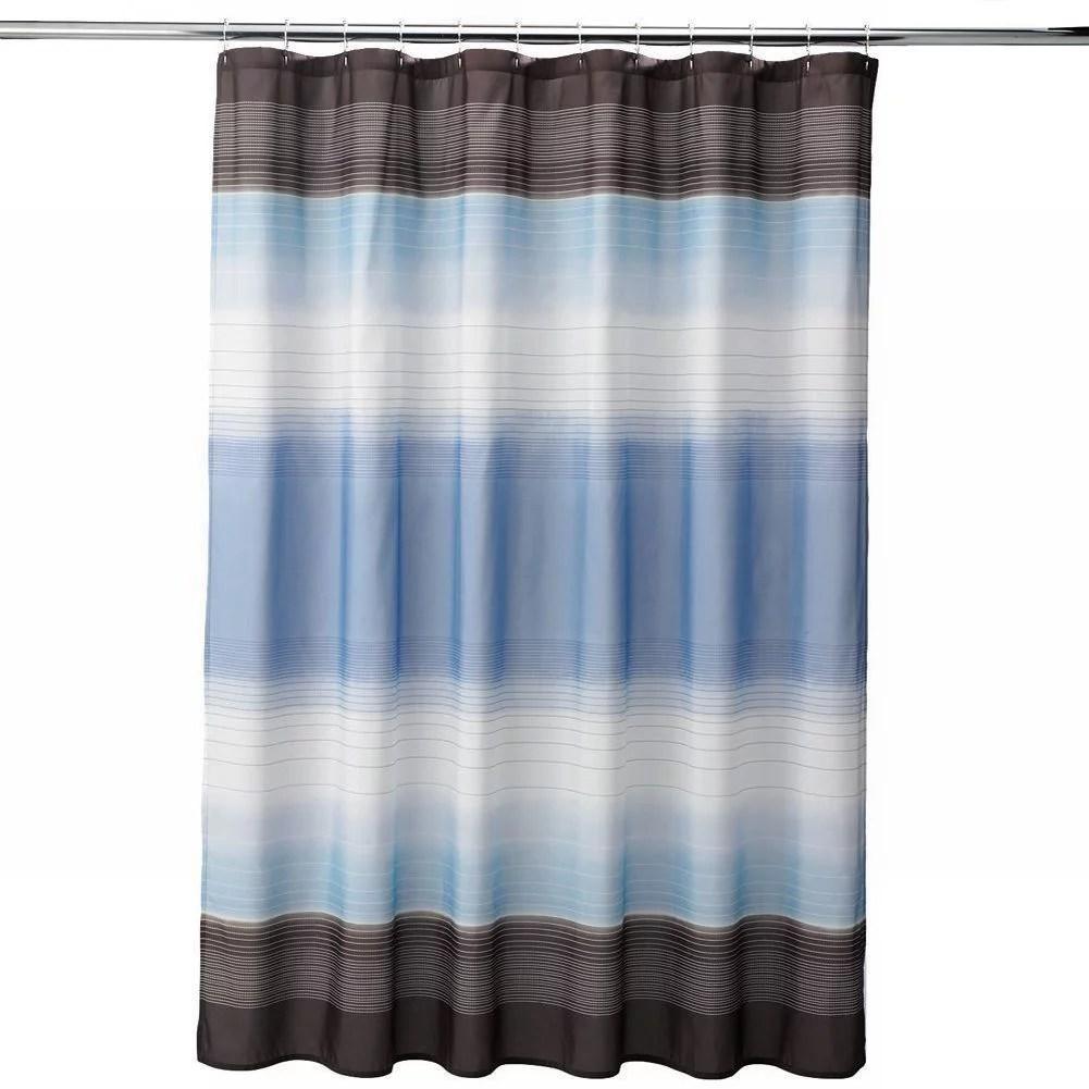 apt 9 blue brown halo stripe fabric shower curtain pretty striped bath