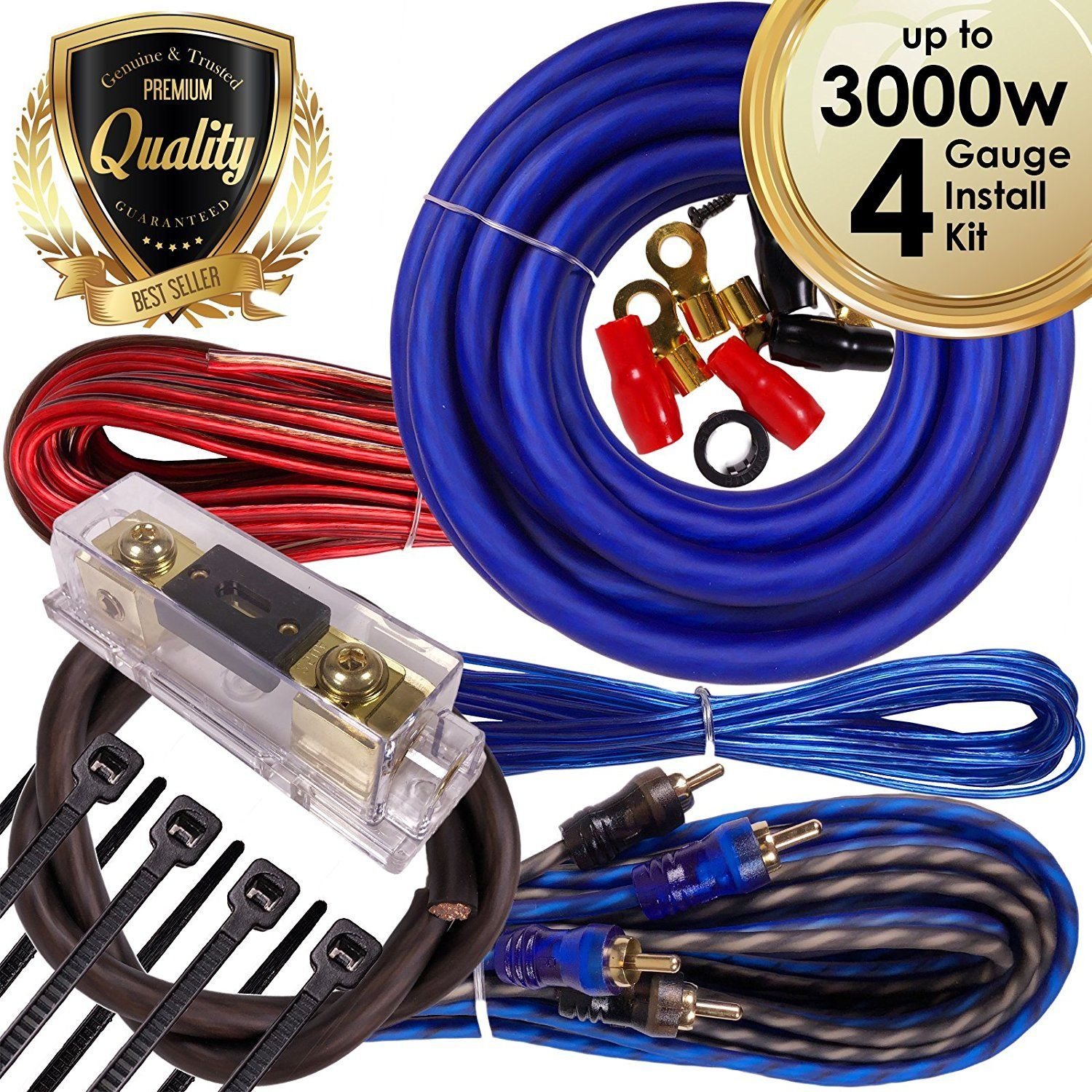complete 3000w 4 gauge car amplifier installation wiring kit amp pk1 amp wiring kit specifications [ 1500 x 1500 Pixel ]