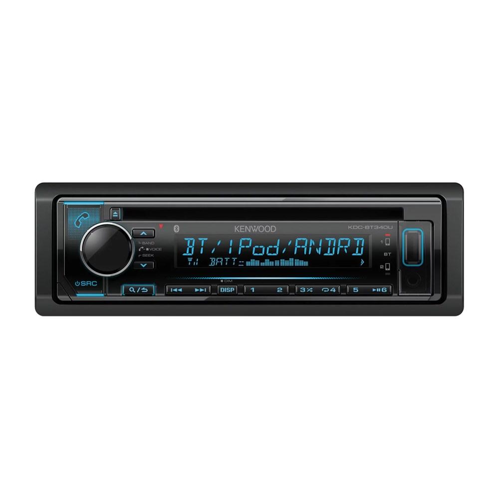 medium resolution of kenwood kdc bt340u single din in dash am fm cd receiver with bluetooth siriusxm ready walmart com