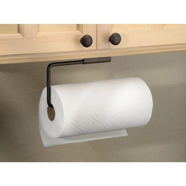 Interdesign Swivel Paper Towel Holder Kitchen Wall Mount Under Cabinet Bronze