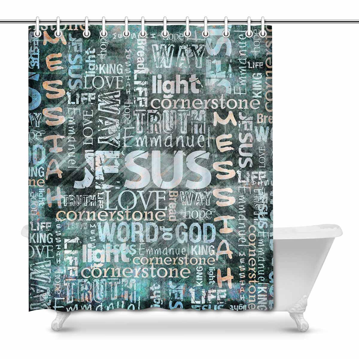 MKHERT Religious Christian Quotes House Decor Shower