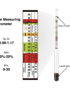 Hydrometer and glass test tube for wine beer mead cider  kombucha alcohol triple scale ml clear jar brewers bottle brush abv also rh walmart